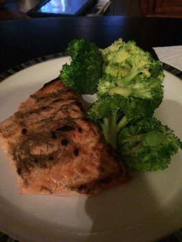 Healthy eating salmon